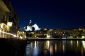 Panoramic night Cadaques — Stock Photo