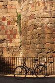 Römischen mauer, barcelona — Stockfoto
