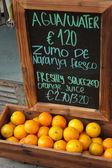 Naranja y pizarra. — Foto de Stock
