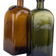 Antiquarian glass bottle — Stock Photo