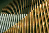 Traditional organ pipes — Stock Photo