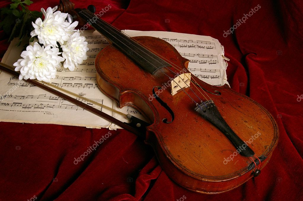 The violin is very ancient musical instrument — Stock Photo #5750858
