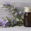 Stock Photo: Bottle of rosemary oil.