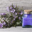 Rosemary and bath salts. — Stock Photo #6137189