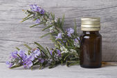Bottle of rosemary oil. — Stock Photo
