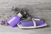 Rosemary soap and gel. — Stock Photo