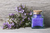 Rosemary and bath salts. — Stock Photo