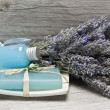 Lavender, and hygiene items. — Stock Photo