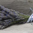 Bouquet of lavender on a shelf. — Stock Photo