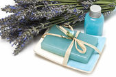Soap made of lavender. — Stock Photo