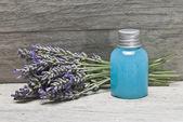 Lavender gel on a shelf. — Stock Photo