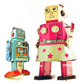 Mother and son robots — Stock Photo
