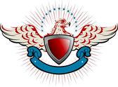 Eagle emblem — Stock Vector