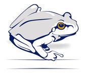 Frog in vector — Stock Vector