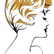 Royalty-Free Stock Vector Image: Blond girl face