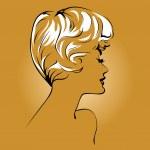 Blond girl face — Stock Vector