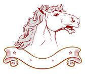 Horse ranch emblem in light — Stock Vector