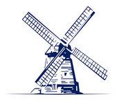 Mill emblem — Stock Vector