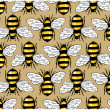 Bee honey pattern — Stock Vector