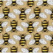 Stock Vector: Bee honey pattern