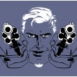 Royalty-Free Stock Vector Image: Blond gangster man