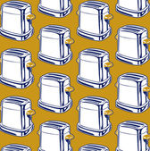 Toaster background pattern — Stock Vector