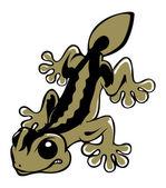 Vicious lizard salamander — Stock Vector
