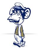 Cartoon monkey walk — Stock Vector