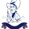 Royalty-Free Stock Imagen vectorial: Cowboy man portrait