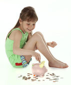 Young Girl With Snack Food — Stock Photo