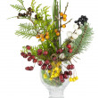 Christmas bouquet with wild wood berries isolated — ストック写真