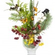 Weihnachten Bouquet mit Wildbeeren Holz isoliert — Stockfoto