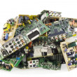 Broken electronics on a garbage dump — Stock Photo