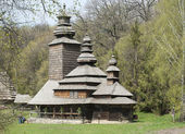 Ancient rural wooden church — Stock Photo