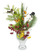 Christmas bouquet with wild wood berries isolated — Stock Photo