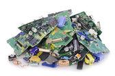 Destroyed broken electronics on dump — Stock fotografie