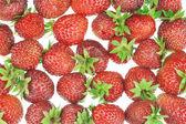 Fresh garden strawberry background — Stock Photo