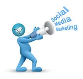Twitter - marketing en redes sociales — Foto de Stock