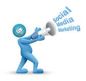 Twitter - sociala medier marknadsföring — Stockfoto