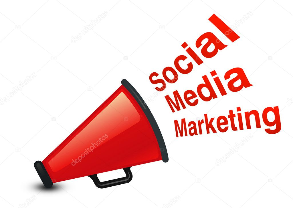 Social Media marketing concept with White background — Stock Photo #6594554