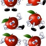 Apple cartoon character — Stock Vector #5488700