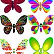 Art butterfly — Vector de stock #5488742