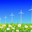 Royalty-Free Stock Obraz wektorowy: Wind turbine