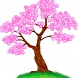 Royalty-Free Stock Imagem Vetorial: Cherry tree blossom
