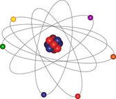 Atom and electron orbital — Stock Vector