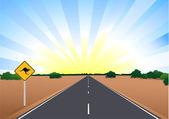Route de l'Australie — Vecteur