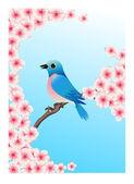 Blue bird — Stock Vector