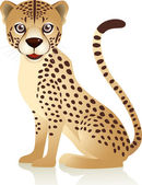 Cheetah cartoon — Stock Vector