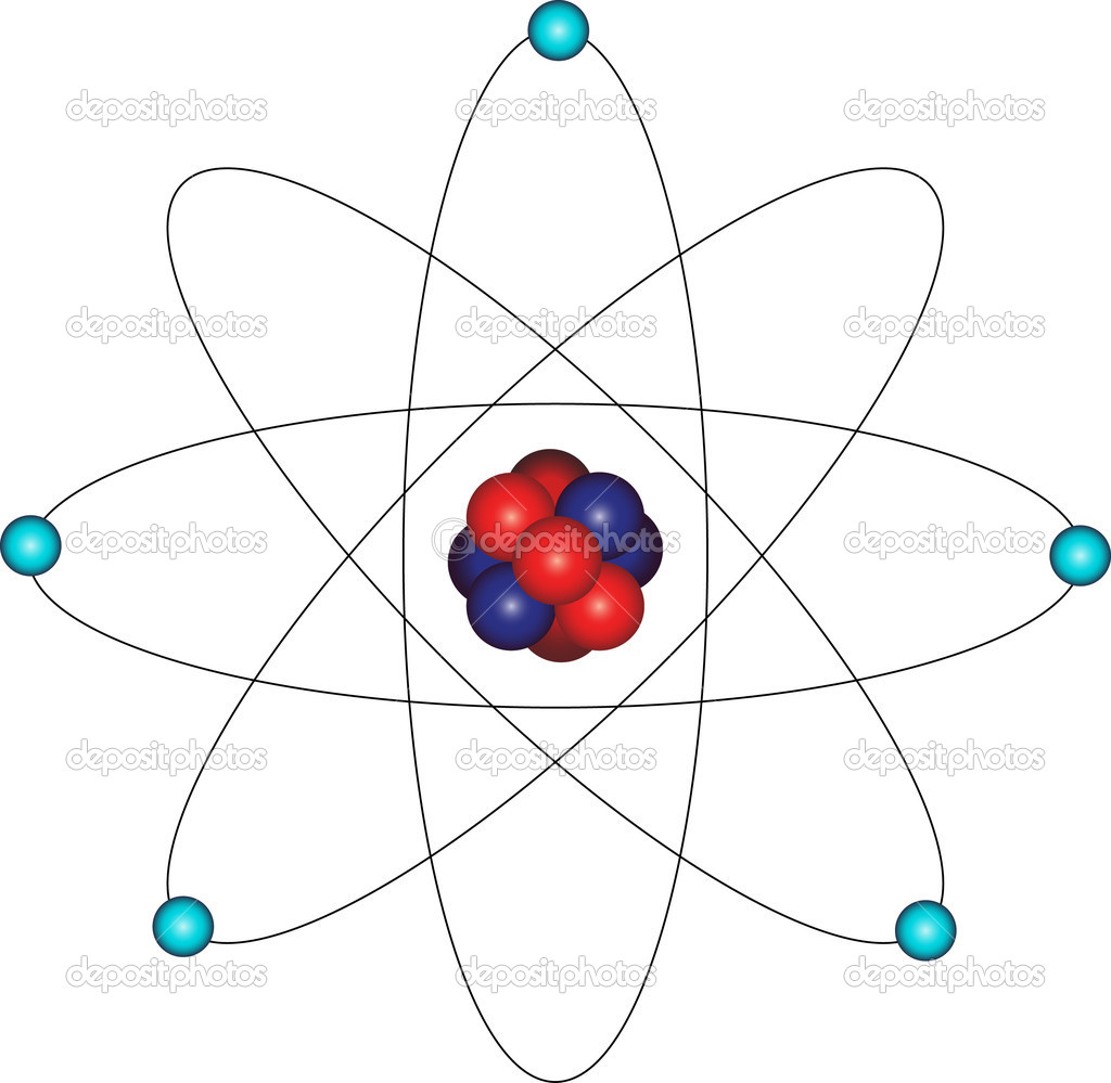 Atom and electron orbital  Stock Vector #5488867