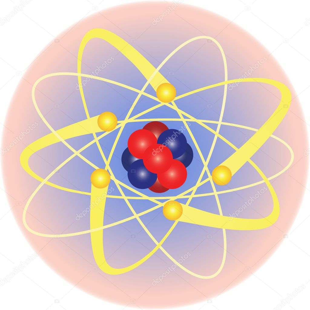 Atom and electron orbital — Stock Vector #5488909